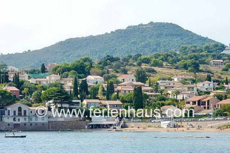 Villengegend beim Ferienhaus am Strand in Südfrankreich