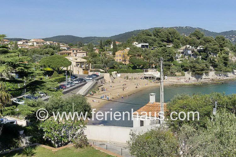 Ferienhaus oberhalb des Strandes bei Carqueiranne, Südfrankreich