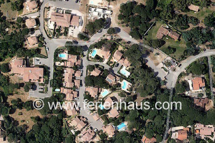 Domaine von oben, Les Issambes, Südfrankreich