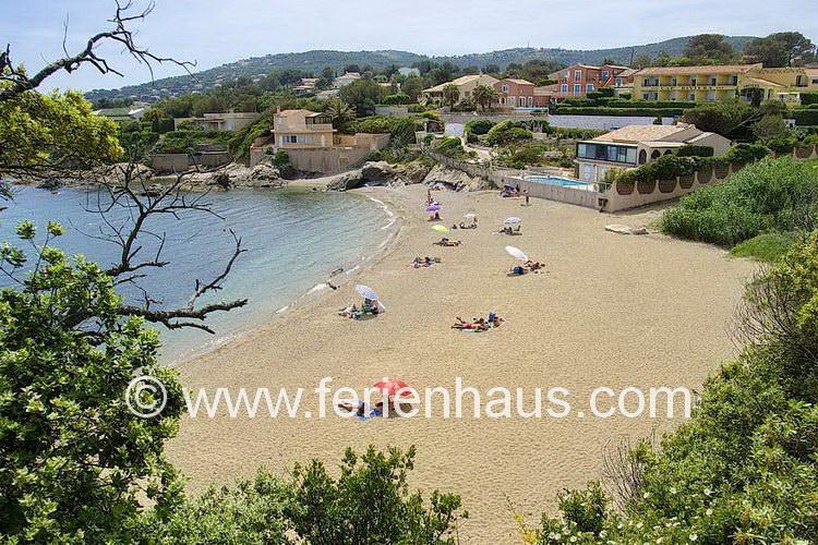 Strandbucht, Plage du Grand Boucharel, beim Ferienhaus in St. Aygulf, Südfrankreich