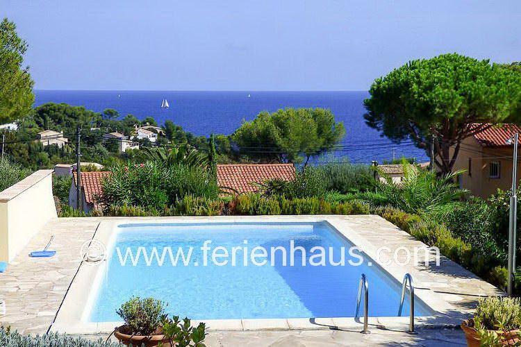 Ferienhaus Südfrankreich mit Pool, strandnah, Meerblick, für 6 Personen