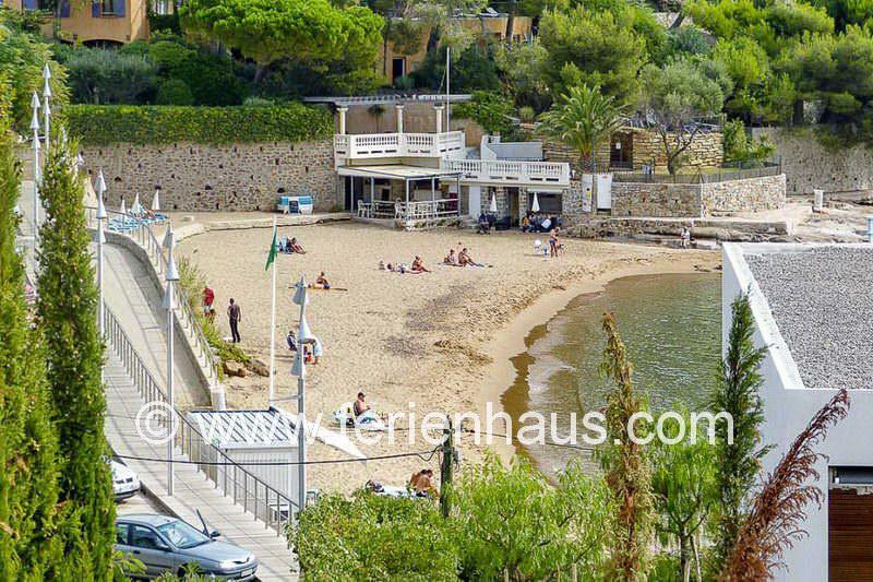kleine Strandbucht unterhalb der Villa in Carqueiranne