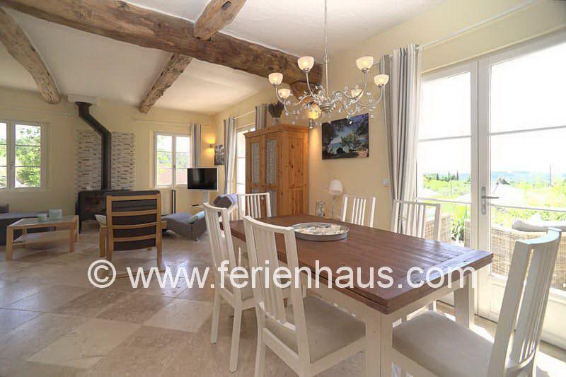 Essplatz mit Blick - Ferienhaus PRV113 in Lorgues