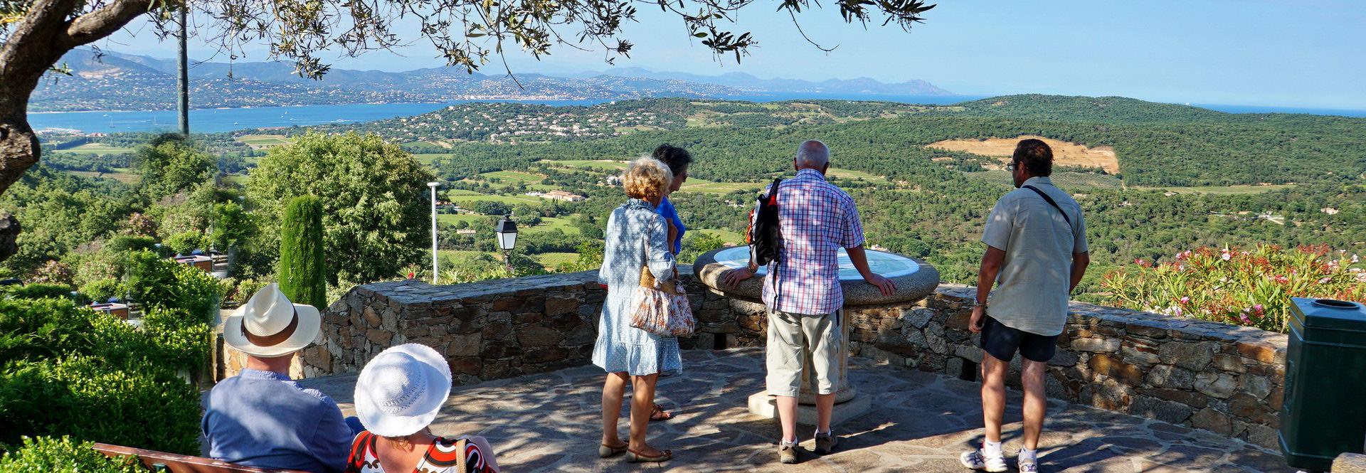 Blick von Gassin Richtung Golfe des St. Tropez