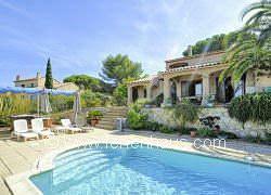 Ferienhaus auf Giens mit Pool und Meerblick